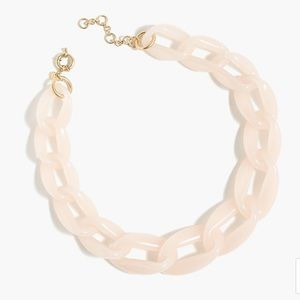 J Crew Lucite Link Necklace in Soft Blush